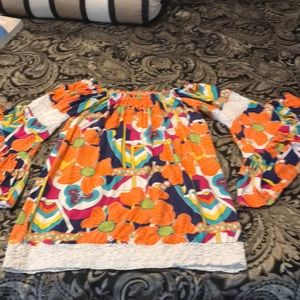 Off the shoulder floral top size XS